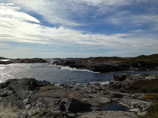 Isle aux Morts, Canada: Most of the trail is right at sea level