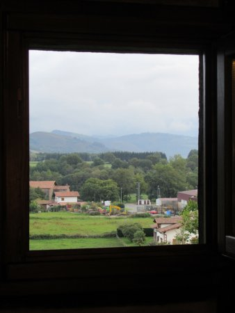 Arizcun, Hiszpania: Looking out the window of our room