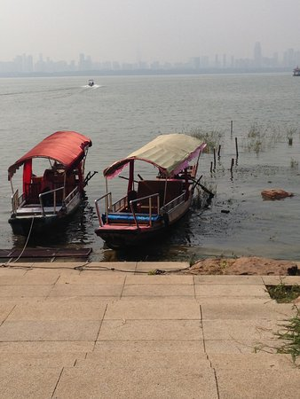 East Lake in Wuhan : Boats on the lake