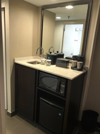 Embassy Suites By Hilton Dallas Love Field: Mini Kitchenette   Microwave  And Fridge