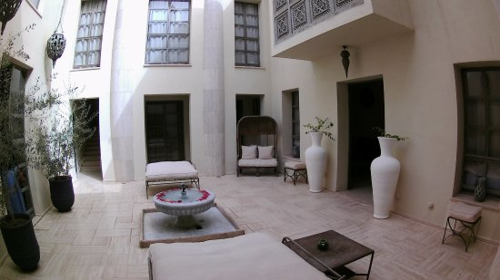Riad Joya: view of the courtyard
