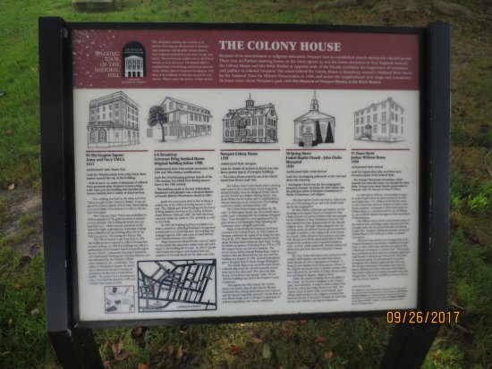 Colony House: Informational sign