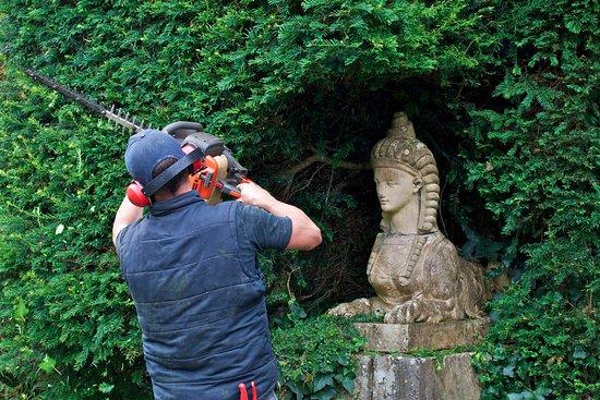 Tullynally Castle & Gardens: maintenance under a watchful eye