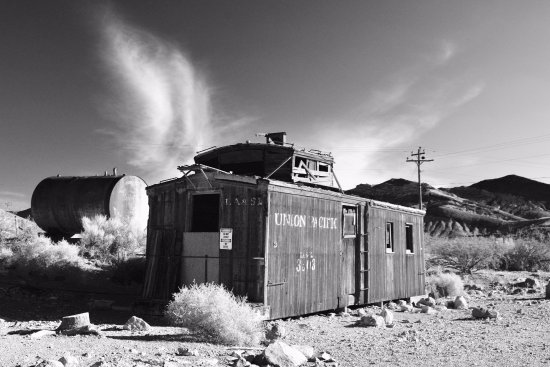 Rhyolite in black and white