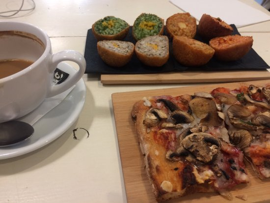 Perfect Italian vegan lunch
