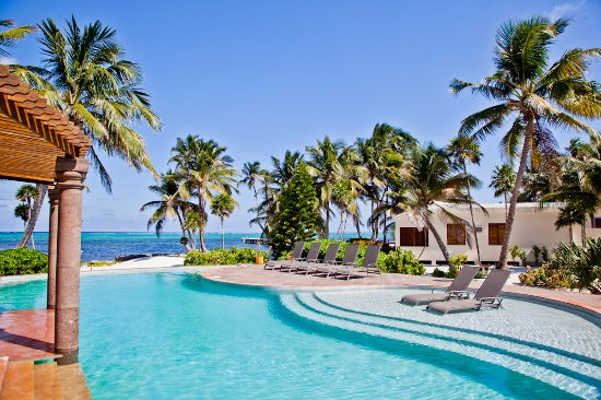 La Perla Del Caribe: Common swimming pool with ocean view