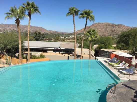 Sanctuary Camelback Mountain: infinity pool view