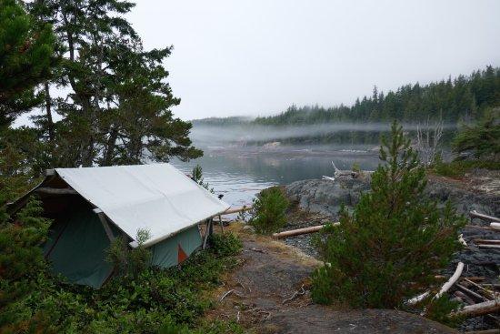 Heriot Bay, Canada: cozy tent