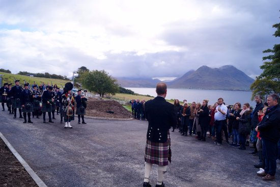 The official opening of production at Isle of Raasay Distillery in true Hebridean fashion.