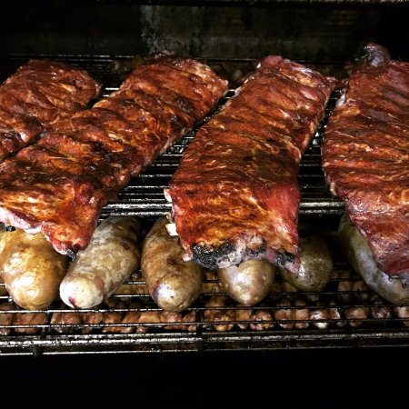 Scottsboro, AL: Thick, tender and delicious smoked ribs. Try a slab today.