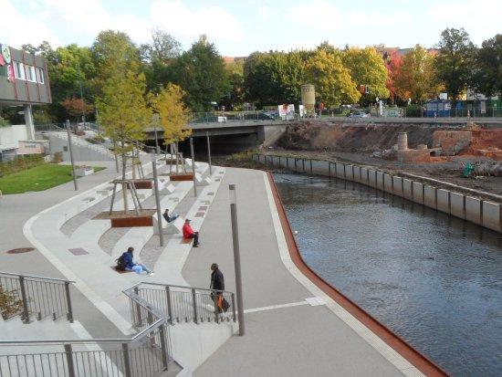 Halbfertige Baustelle der Bliesterrassen in Neunkirchen/Saar