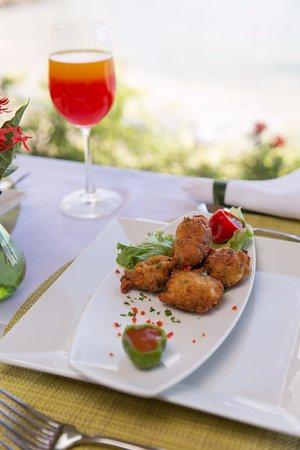 Petite Calivigny, Grenada: Fish cakes