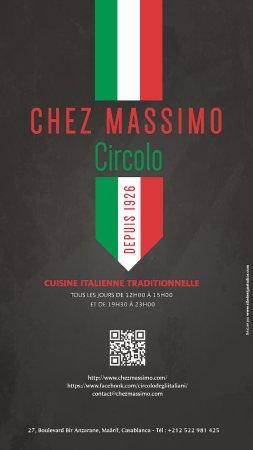 Chez massimo circolo italiani casablanca restaurant for Numero deputati e senatori italiani