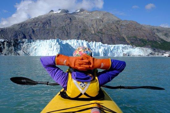 Gustavus, Аляска: Glacier-front kayaking!
