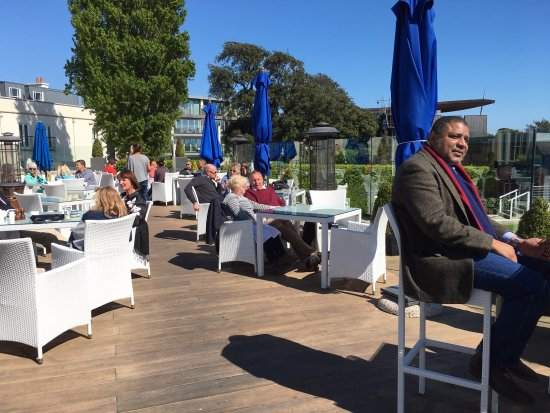 Upper Deck at The Christchurch Harbour Hotel & Spa : More of the terrace