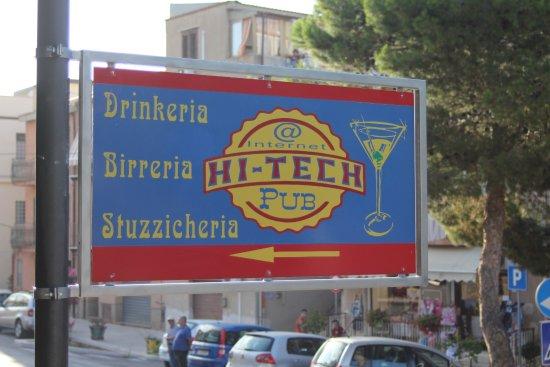 Finale, Italy: insegna hi-tech pub