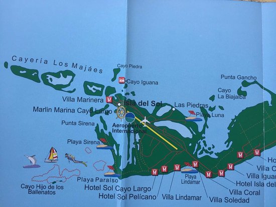 Map showing Sirena and Paraiso beaches Picture of Sirena Beach