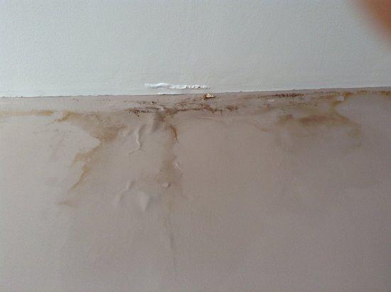 Seine-et-Marne, França: Damp leak stain