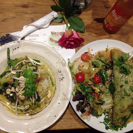 Toll Vengo Die Gemusekuche: Grünes Thai Curry + Veggie Wrap