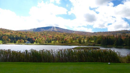 South Londonderry, VT: Looking south from the golf course, with Stratton Mountain in the background.