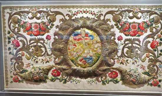 Late 17th Century Embroidery By Ursuline Nuns Picture Of Musee Des