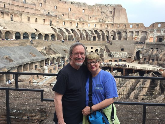 Ancient Rome: Rob and Beth at the Colosseum in Rome!