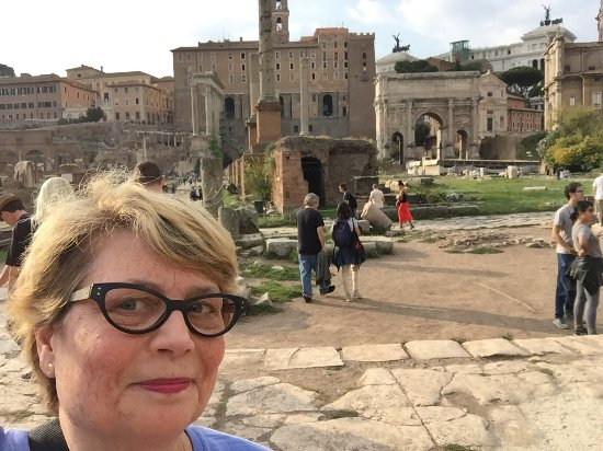 Ancient Rome: Beth at the Roman Forum