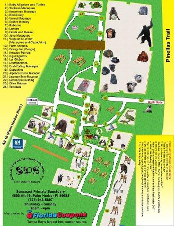 Sanctuary Map - Picture of Suncoast Primate Sanctuary ... on doral resort map, kirkwood resort map, copperhead course map, pinehurst resort map,
