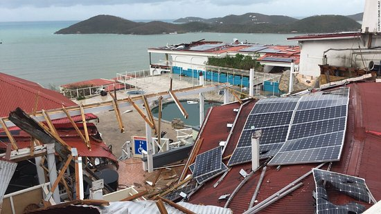 Photo A Solar Panel Array Destroyed By Hurricanes Irma And Maria In St Thomas