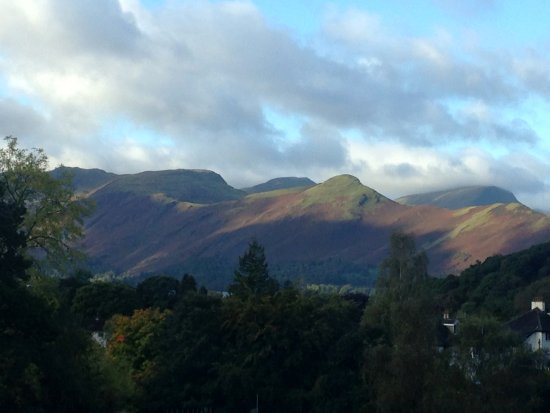 The Grange Country House: The stunning view, looking towards Catbells, from our room.
