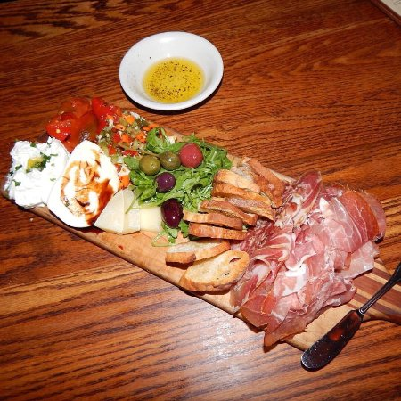 The Corner Room Kitchen & Bar: Antipasta with house made ricotta, sweet peppers, salami and more!!!!