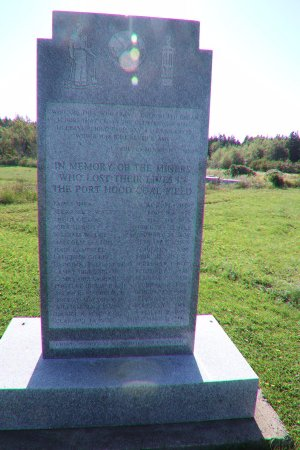 Port Hood, Canada: A monument for those who died in the mines