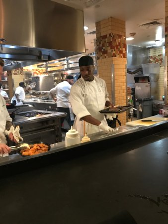 Emeril's New Orleans: Steak and chops chef, right. Amazing talent.
