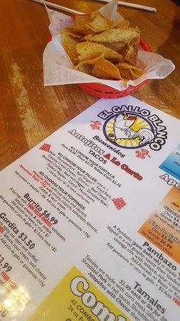 menu, el gallo blanco