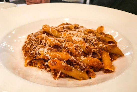 garganelli Bolognese lunch portion
