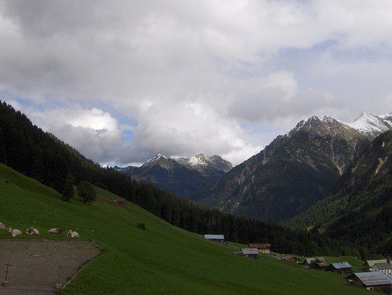 Хиршег, Австрия: Blick ins Kleinwalsertal (in Richtung Norden).