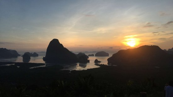 Phuket Town, Thailand: Sunrise over Phangnga