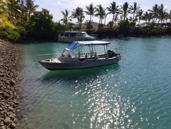 Dive Wananavu : Our boat for the snorkeling trips!