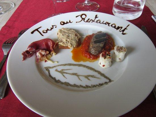 Augne, France: l'assiette d'amuses bouche