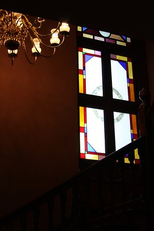 George C. Marshall House : Stained glass windows.