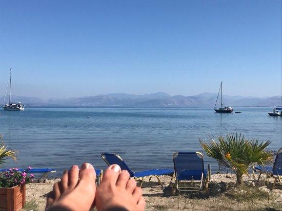 Petriti, กรีซ: Blick von der Frühstücksterrasse