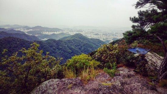 Gwangju, Sydkorea: One of the views on Seoingbong Peak