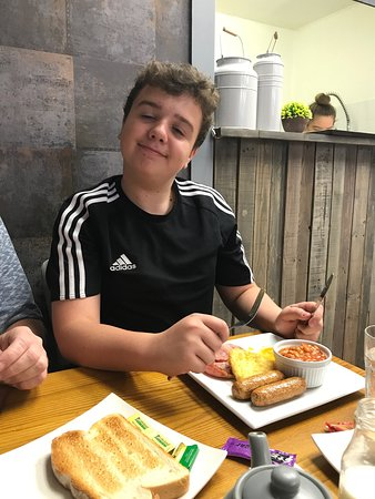 Hyde, UK: Enjoyed by grandson