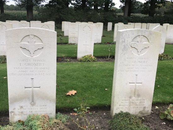 History Trips: Twin brothers killed on the same day. The headstones contain identical messages at the bottom.