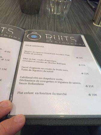 Herblay, Francia: menu