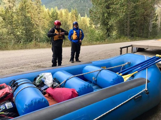 Grizzly Bear Ranch: Getting ready to go rafting