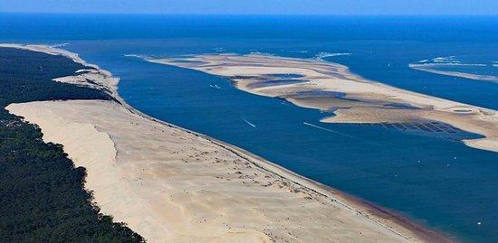 Vue Du Banc Darguin Et De La Dune Du Pilat Photo De Pinasse Au Gé