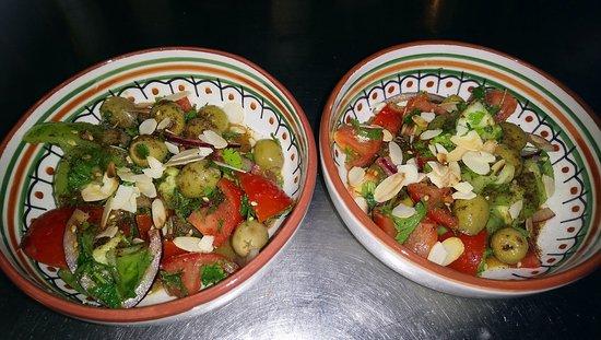 Massy, Frankrig: Salades algériennes à la fleur d'oranger