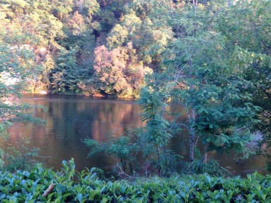 Domaine de Soleil Plage: View of the Dordogne River from our caravan pitch.