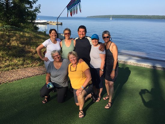 Living Adventure, Inc : Strong Canadian women take on the outer island tour in the Apostles. Great trip with Jose from l